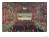 Meal at the San Benedetto Theatre Giclee Print by Gabriele Bella