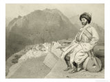 Ghimri and Portrait of Hadji-Mourad, Plate 66, Book on the Caucasus, Engraved by Laurens Giclee Print by Grigori Grigorevich Gagarin