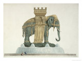 Design For the Elephant Fountain at the Place de La Bastille, 1813-14 Giclee Print by Jean Antoine Alavoine