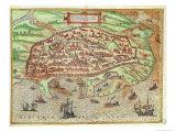 Map of Alexandria from Civitates Orbis Terrarum Coloniae Agrippinae, 1572 Giclee Print by Franz Hogenberg