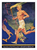 Torch Bearer at the Berlin Olympic Games, 1936 Giclee Print