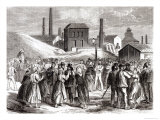 Women Demonstrating at the Le Creusot Coal Mine in April 1870 Giclee Print by Jules Pelcoq
