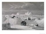 Eskimo Building a Snow-Hut, c.1822 Giclee Print by Captain George Francis Lyon
