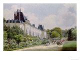 View of the Garden Facade of the Chateau, from a Collection of Twelve &#39;Views of the Malmaison Giclee Print by Auguste Garneray