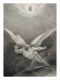 Satan Leaps over the Walls of Heaven, from a French Edition of 'Paradise Lost' by John Milton Giclee Print by Richard Edmond Flatters