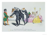 These Gentlemen Are So Greedy, Les Metamorphoses du Jour Giclee Print by  Grandville