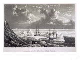 Situation of H.M. Ships Hecla and Griper, c.1820 Giclee Print by William Westall