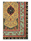 Persian Decoration, Plate XXV, Polychrome Ornament, Engraved by F. Durin, Published Paris, 1869 Giclee Print by Albert Charles August Racinet