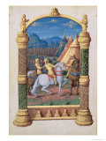 David and Absalom at War For the Crown, from the Book of Hours of Louis D'Orleans, 1469 Giclee Print by Jean Colombe