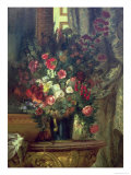Vase of Flowers on a Console, 1848-49 Giclee Print by Eugene Delacroix