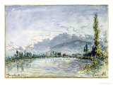 The River Isere at Grenoble, 1877 Giclee Print by Johan-Barthold Jongkind