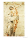 St. Francis Rejecting the World and Embracing Christ Giclee Print by Bartolome Esteban Murillo