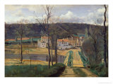 Ville-D&#39;Avray, c.1820 Giclee Print by Jean-Baptiste-Camille Corot