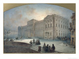 View of the Mariinsky Palace in Winter, 1863 Giclee Print by Vasili Semenovich Sadovnikov