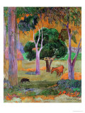 Dominican Landscape Or, Landscape with a Pig and Horse, 1903 Giclee Print by Paul Gauguin