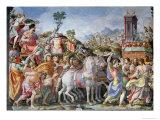 The Triumph of Marcus Furius Camillus Giclée-tryk af Francesco Salviati