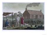 Osage Settlement, Missouri River, Le Costume Ancien ou Moderne, Plate 3, c.1820-30, Giclee Print