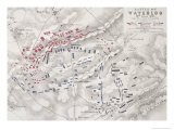 Battle of Waterloo, 18th June 1815, Sheet 2nd, Crisis of the Battle Reproduction proc&#233;d&#233; gicl&#233;e par Alexander Keith Johnston