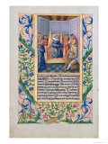 Saul Listening to David Play the Harp, from the Book of Hours of Louis D'Orleans, 1469 Giclee Print by Jean Colombe
