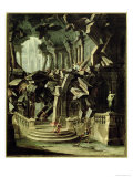 Samson Destroying the Temple of Dagan, God of the Philistines Giclee Print by Antonio Joli