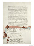 Treaty of Westphalia, Signed at Munster, 24th October 1648 Giclee Print