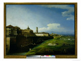 View of Turin from the Gardens of the Palazzo Reale, 1745 Giclee Print by Bernardo Bellotto