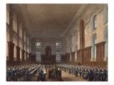 Writing School, Christ Hospital, Ackermann's History of Christ Hospital, Engraved Stadler, Pub.1816 Giclee Print by Frederick Mackenzie