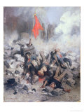 Victims at a Barricade in June 1848 Giclee Print by Louis Adolphe Hervier
