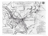 Plan of the Operations of General Washington, Against the Kings Troops in New Jersey, 1777 Giclee Print by William Faden