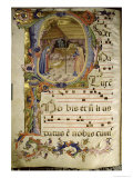 Graduale No.5 Historiated Initial P Depicting the Nativity Giclee Print by Rossello Franchi