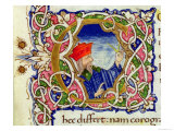 Historiated Initial C with a Portrait of Ptolemy Giclee Print by  Ptolemy