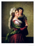 Madame Rousseau and Her Daughter, 1789 Giclée-Druck von Elisabeth Louise Vigee-LeBrun