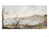 Bay of Naples Sea Shore Near the Maddalena Bridge, by Sir William Hamilton Giclee Print by Pietro Fabris