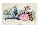 Marriage by the Book, Caricature from Les Metamorphoses du Jour Series, Reprinted in 1854 Giclee Print by  Grandville