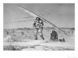 Eskimo of Igloolik, Carrying His Canoe, from Journal of a Second Voyage Giclee Print by Captain George Francis Lyon