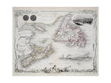 Nova Scotia and Newfoundland, Series of World Maps, c.1850 Giclee Print by John Rapkin