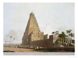 The Great Pagoda, Tanjore, Plate XXIV from Oriental Scenery, Published 1798 Giclee Print by Thomas & William Daniell