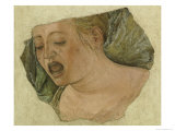 Head of Mary Magdalene Crying, from the Crucifixion Giclee Print by Ercole de Roberti