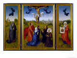 Crucifixion Triptych with St. Mary Magdalene, St. Veronica and Unknown Patrons, c.1440-45 Giclee Print by Rogier van der Weyden