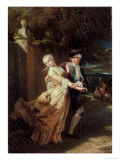 Lovelace's Kidnapping of Clarissa Harlowe, 1867 Giclee Print by Ed. Dubufe