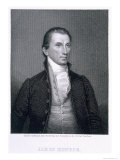 James Monroe, Engraved by Asher Brown Durand Giclee Print by John Vanderlyn