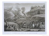 Great Asian Archipelago: French Explorers with Natives on Ombai, Voyage Autour du Monde Giclee Print by Jacques Etienne Victor Arago