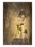 Great Pyramid of Giza, Le Costume Ancien et Moderne, Engraved by Gaetano Zancon Giclee Print by Alessandro Sanquirico