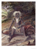 Old Man from the Marquesas Islands, c.1842 Giclee Print by Maximilien Radiguet
