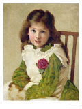 Portrait of the Artist's Daughter Giclee Print by George Dunlop Leslie