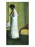 Nude in an Interior, Woman Removing Her Shirt, 1900 Giclee Print by Felix Vallotton