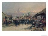 Chorus of the Fourth Infantry Battalion at Tsarskoe Selo, 1889 Giclee Print by Jean-Baptiste Edouard Detaille
