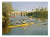 Max Schmitt in a Single Scull, 1871 Giclee Print by Thomas Cowperthwait Eakins