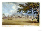 Eaton Hall, Entrance Front, from Ackermann's 'Repository of Arts', Published c.1826 Giclee Print by John Gendall
