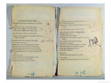 Annotated and Illustrated Copy of Le Musicien de Saint Merry Giclee Print by Guillaume Apollinaire